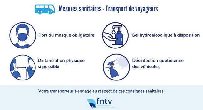 Autocars Vallée d'Azergues - Mesures saniataires